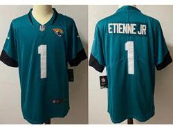Mens Nfl Jacksonville Jaguars #1 Travis Etienne Jr Green Vapor Untouchable Limited Nike Jersey