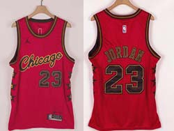 Mens Nba Chicago Bulls #23 Michael Jordan Red Champion Commemorative Edition Jordan Jersey