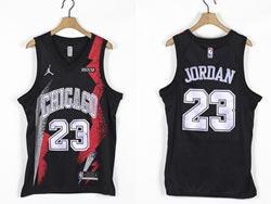 Mens Nba Chicago Bulls #23 Michael Jordan Black Fashion Edition Jordan Jersey