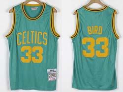 Mens Nba Boston Celtics #33 Larry Bird Green 1985-86 Mitchell&ness Hardwood Classics Jersey
