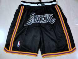 Mens Nba Los Angeles Lakers Mvp Black Just Don Pocket Shorts