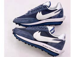 Mens And Women Fragment Design X Sacai X Nike Ldwaffle Running Shoes One Color