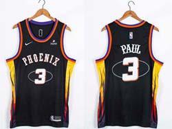 Mens 2022 Nba Phoenix Suns #3 Chris Paul Black 75th Swingman Nike Jersey