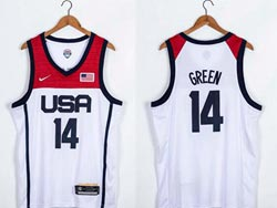 Mens 2021 Nba Usa #14 Draymond Green White Olympic Edition Nike Jersey