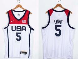 Mens 2021 Nba Usa #5 Zach Lavine White Olympic Edition Nike Jersey