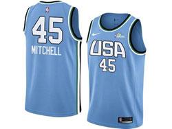 Mens Nba Usa Team #45 Donovan Mitchell All Star Blue 19 New Player Nike Jersey