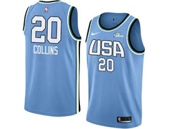 Mens Nba Usa Team #20 Collins All Star Blue 19 New Player Nike Jersey