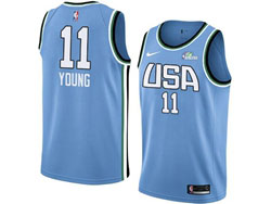 Mens Nba Usa Team #11 Trae Young All Star Blue 19 New Player Nike Jersey