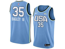 Mens Nba Usa Team #35 Marvin Bagley Iii All Star Blue 19 New Player Nike Jersey