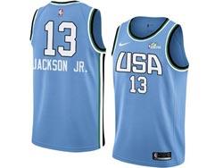 Mens Nba Usa Team #13 Jaren Jackson Jr. All Star Blue 19 New Player Nike Jersey