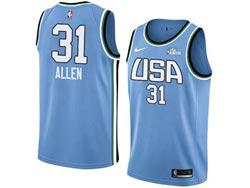 Mens Nba Usa Team #31 Allen All Star Blue 19 New Player Nike Jersey
