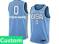 Mens Nba Usa Team Custom Made All Star Blue 19 New Player Nike Jersey