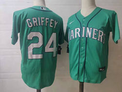Mens Mlb Seattle Mariners #24 Ken Griffey Jr Green Cool Base Nike Jersey