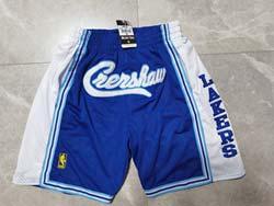 Mens Nba Los Angeles Lakers Blue Pocket Shorts