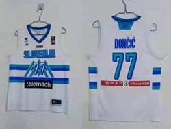 Mens Nba Dallas Mavericks #77 Luka Doncic White 2020 Tokyo Olympics Jersey
