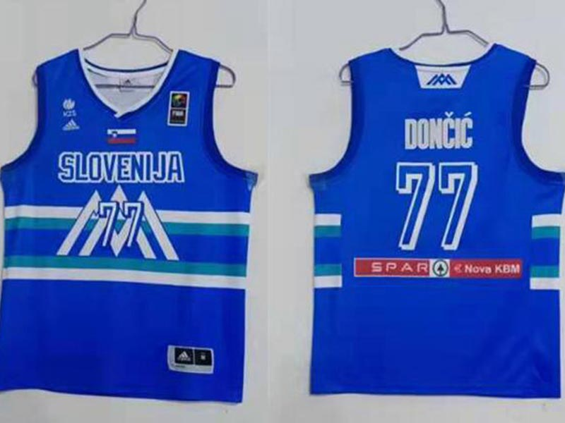 Mens Nba Dallas Mavericks #77 Luka Doncic Blue 2020 Tokyo Olympics Jersey