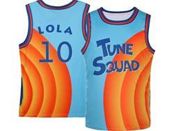 Mens Nba Space Jam Tune Squad #10 Lola Blue&orange Swingman Jersey