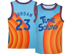 Mens Nba Space Jam Tune Squad #23 Michael Jordan Blue&orange Swingman Jersey