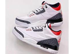 Mens Nike Air Jordan 3 Se Denim Fire Red Running Shoes One Color