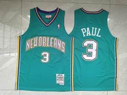 Mens Nba New Orleans Hornets #3 Chris Paul Blue 05-06 Mitchell&ness Hardwood Classics Swingman Jersey
