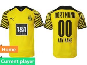 Mens 21-22 Soccer Borussia Dortmund Club Current Player Yellow Home Thailand Short Sleeve Jersey