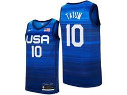 Mens 2021 Nba Usa #10 Tatum Blue Olympic Edition Nike Jersey