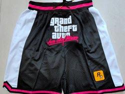 Mens Nba Los Angeles Clippers #2 Kawhi Leonard Black Just Don Pocket Shorts