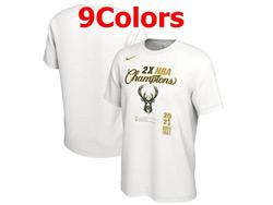 Mens Nba Milwaukee Bucks 2021 Nba Finals Champions T Shirt Jersey 9 Colors