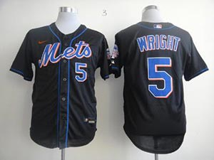 Mens Womens Youth Mlb New York Mets Current Player Nike Black Cool Base Jersey