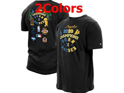 Mens Nba Los Angeles Lakers 2021 Nba Champions T Shirt Jersey 2 Colors