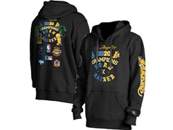 Mens Nba Los Angeles Lakers New Era Born X Raised 2020 Dual Champions Pullover Hoodie With Pocket Black Color