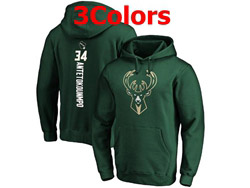 Mens Nba Milwaukee Bucks #34 Giannis Antetokounmpo Pullover Hoodie Jersey With Pocket 3 Colors