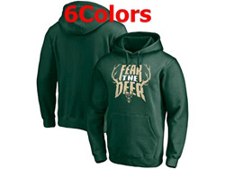 Mens Nba Milwaukee Bucks Pullover Hoodie Jersey With Pocket 6 Colors