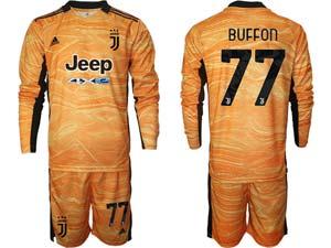 Mens Kids 21-22 Soccer Juventus Club Custom Made Goalkeeper Long Sleeve Suit Jersey 3color
