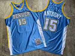 Mens Nba Denver Nuggets #15 Carmelo Anthony Blue 2003-04 Mitchell&ness Hardwood Classics Jersey