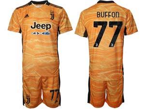 Mens Kids 21-22 Soccer Juventus Club Custom Made Goalkeeper Short Sleeve Suit Jersey 3color