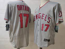 Mens Mlb Los Angeles Angels #17 Shohei Ohtani Gray Flex Base Nike Jersey
