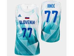 Mens Nba Slovenia Team #77 Luka Doncic White 2020 Tokyo Olympics Adidas Jersey