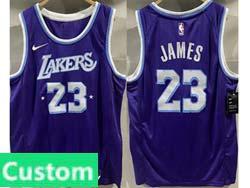 Mens Nba Los Angeles Lakers Custom Made Purple 2022 City Edition Swingman Nike Jersey