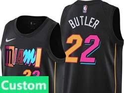 Mens Nba Miami Heat Custom Made Black 2021-22 City Edition Nike Swingman Jersey
