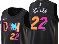 Mens Nba Miami Heat #22 Jimmy Butler Black 2021-22 City Edition Nike Swingman Jersey
