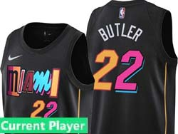 Mens Nba Miami Heat Current Player Black 2021-22 City Edition Nike Swingman Jersey