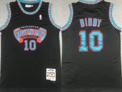 Mens Nba Memphis Grizzlies #10 Bibby Black 1998-99 Mitchell&ness Hardwood Classics Jersey