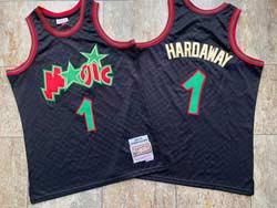 Mens Nba Orlando Magic #1 Anfernee Hardaway Black 1993-94 Mitchell&ness Hardwood Classics Jersey