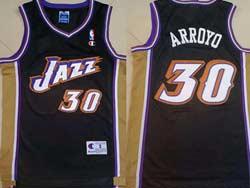 Mens Nba Utah Jazz #30 Arroyo Black Swingman Mesh Jersey