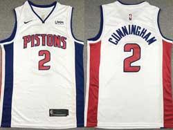Mens Nba Detroit Pistons #2 Cade Cunningham White City Edition Nike Swingman Jersey