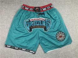Mens 1995-96 Nba Memphis Grizzlies Green Nike Hardwood Classics Just Do Pocket Shorts