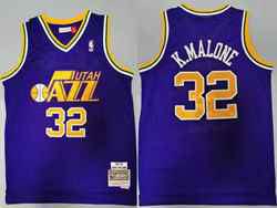 Mens Nba Utah Jazz #32 Karl Malone Purple 1991-92 Hardwood Classics Swingman Jersey