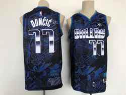 Mens Nba Dallas Mavericks #77 Luka Doncic Blue Mvp Swingman Nike Jersey
