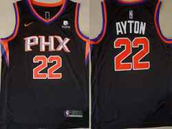 Mens Nba Phoenix Suns #22 Deandre Ayton Black Nike Swingman Jersey
